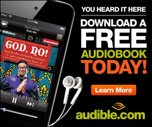 Free audiobook download at audibletrial.com/mightymovie.