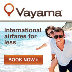 Purchase your international flights from Vayama today!